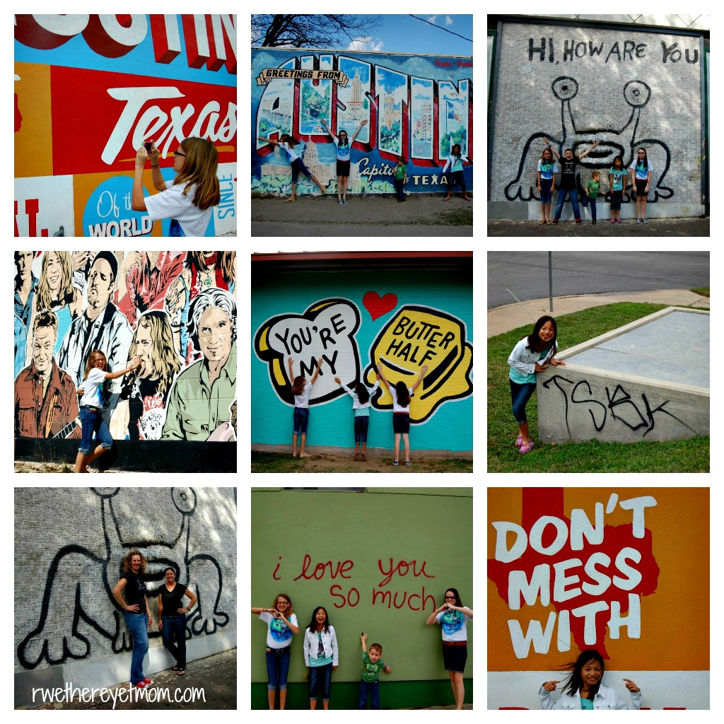 Austin photo scavenger hunt winners r we there yet mom for Austin mural tour