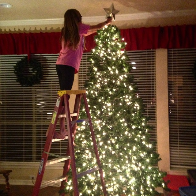 Put the girl to work as soon as she got home from her retreat. ?