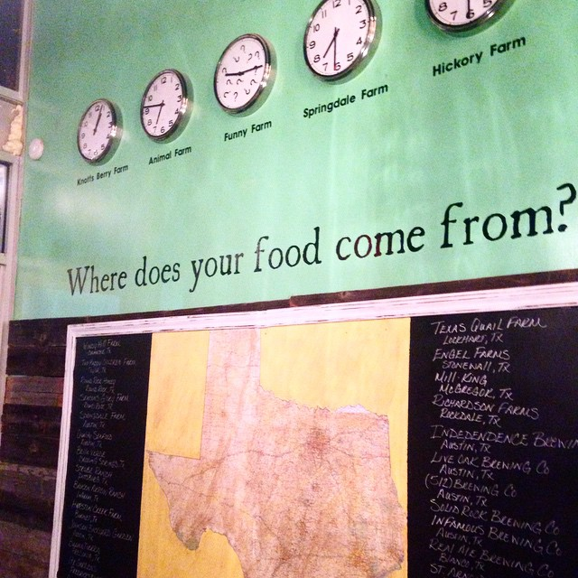 Well, do you? Enjoying a great farm-to-table meal at Greenhouse Craft in Round Rock tonight.