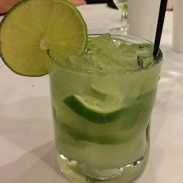 Introducing the Caipirinha - the national drink of Brazil and my new favorite drink. Makes me want to sit on a warm & sunny beach! #estanciachurrascaria