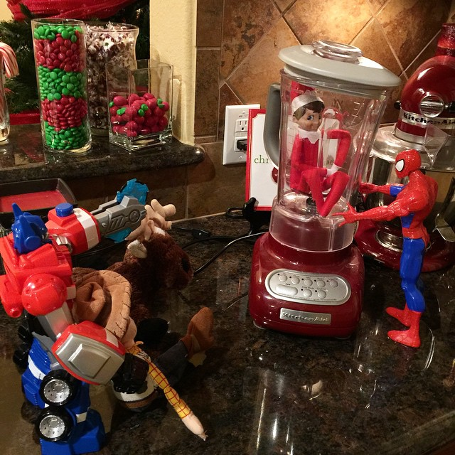 Looks like the toys know how to retaliate. #georgetheelf #elf #elfontheshelf