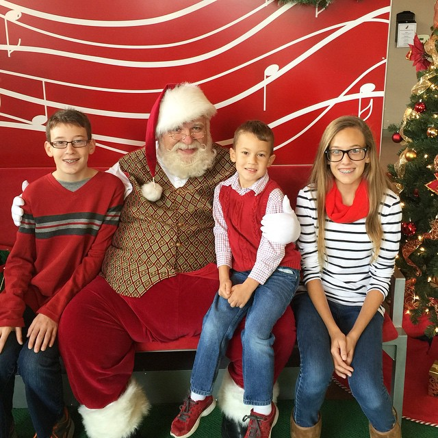 We met Santa - and just in the
