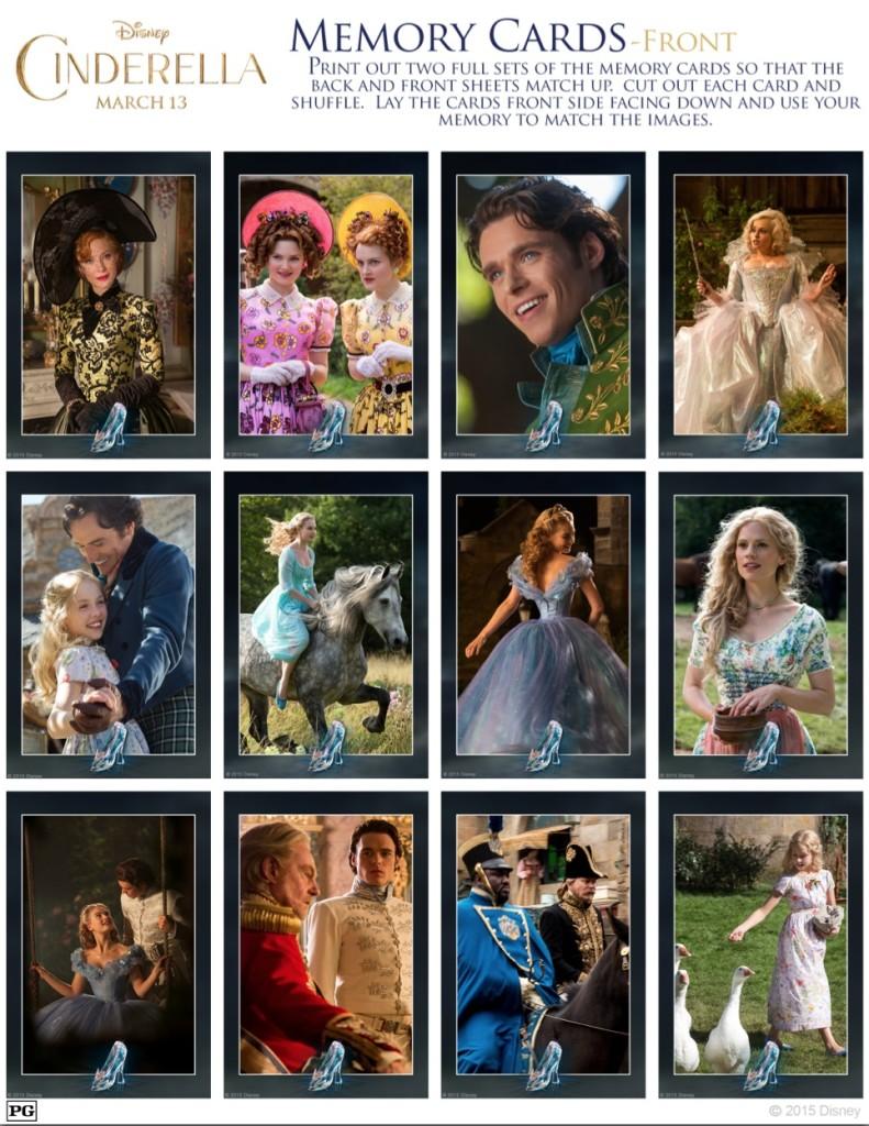 Cinderella Memory Cards