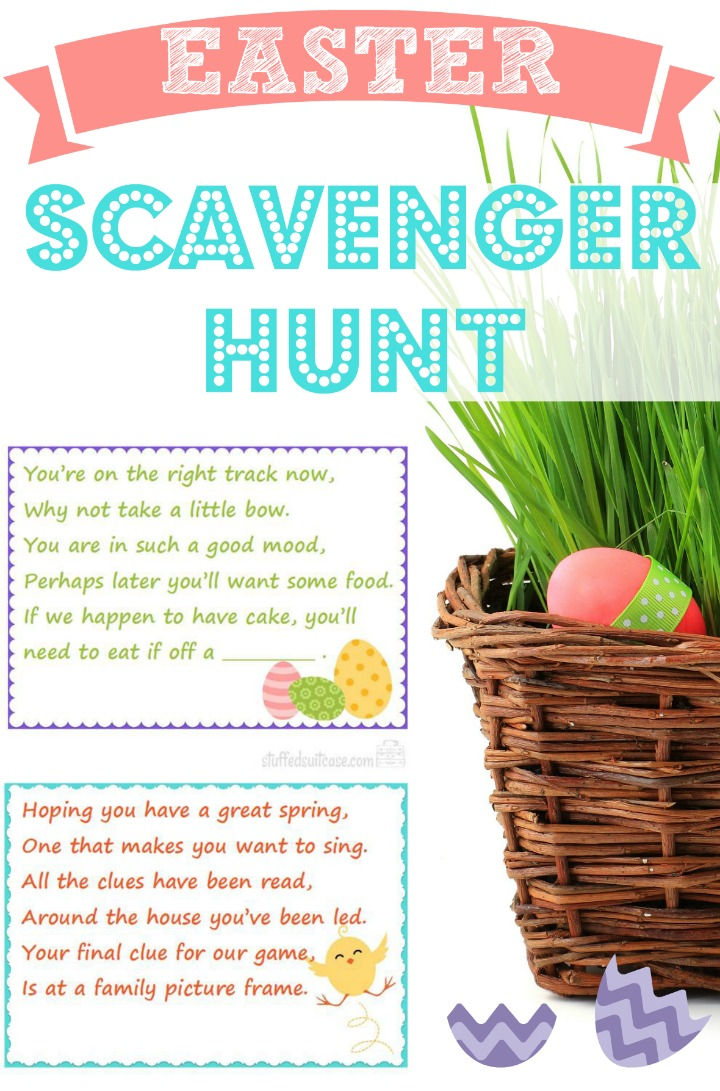 10 fun easter ideas easter recipes crafts egg hunt ideas scavenger hunt for easter basket 720 negle Choice Image