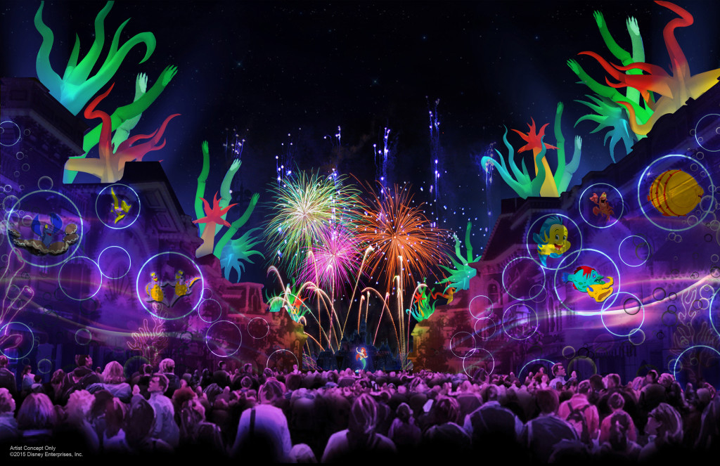 New Disneyland Forever Fireworks show at Disneyland Diamond Celebration