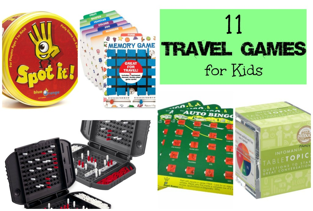 11 Travel Games for kids cover