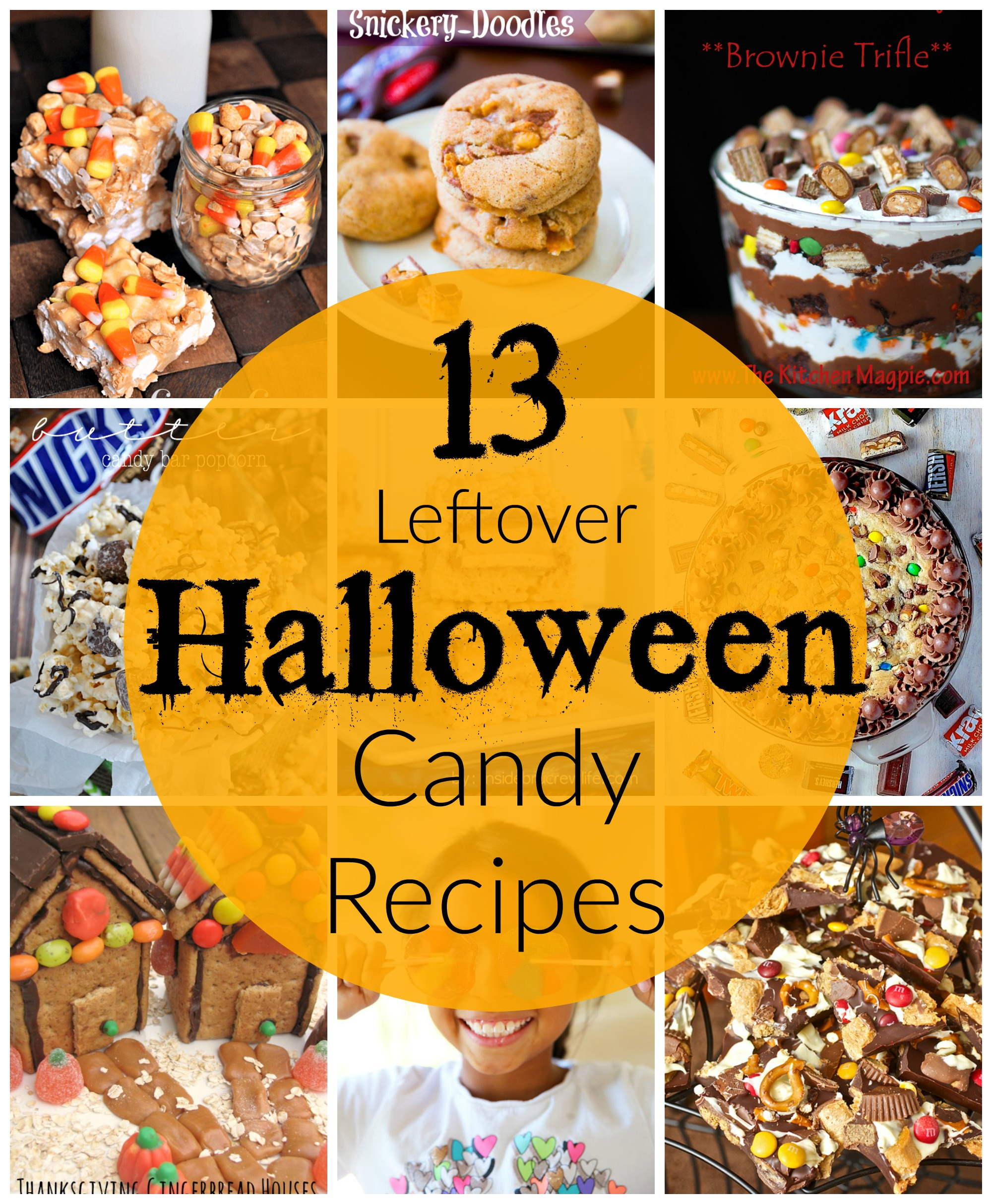 13 leftover halloween candy recipes | cookies, bars, & dips