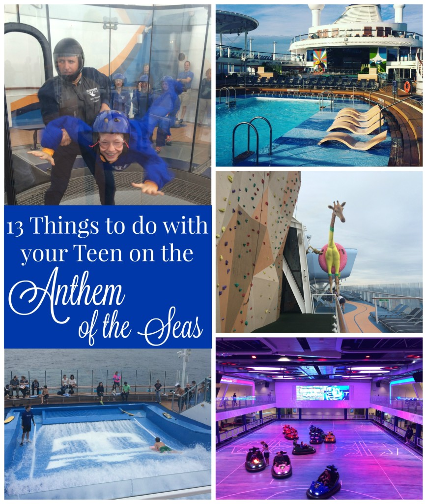 13 Things to do with teen on Anthem of the Seas