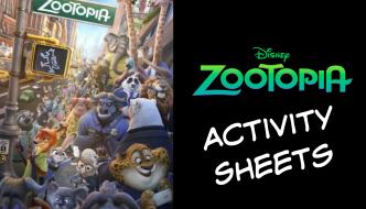 Zootopia Activity Sheets #Zootopia