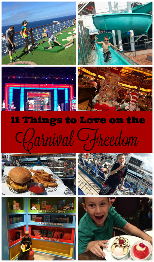 11 Things to Love on Carnival Freedom
