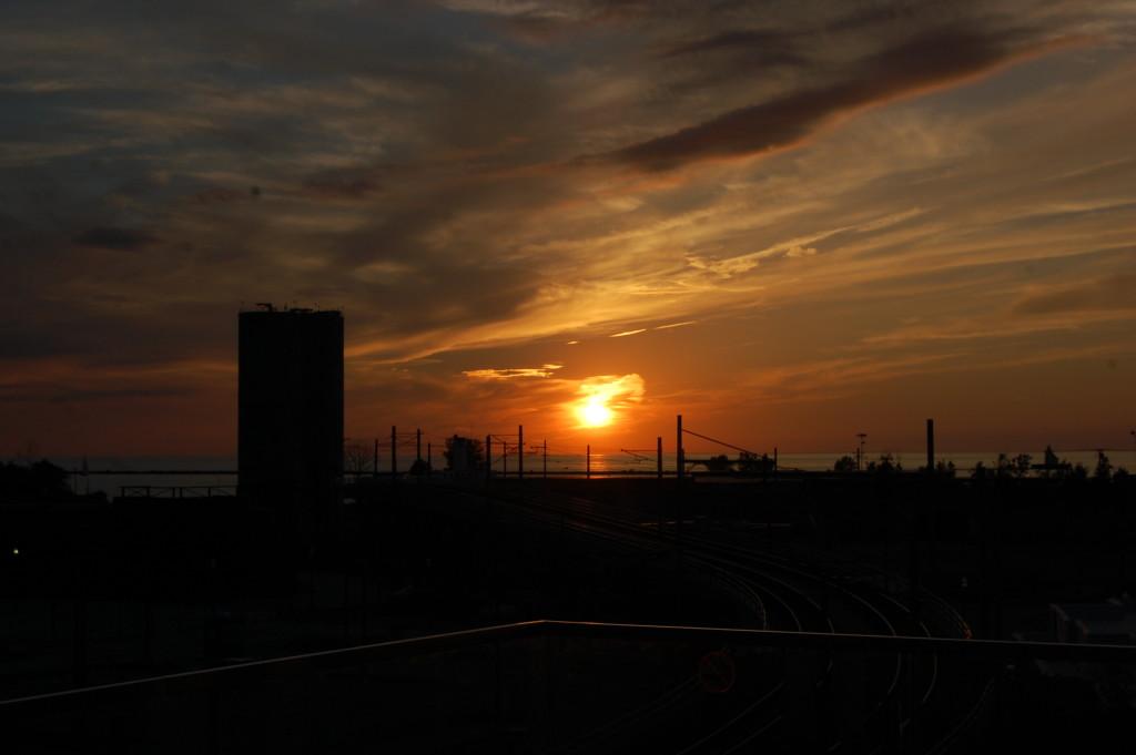 Aloft Cleveland Downtown sunset