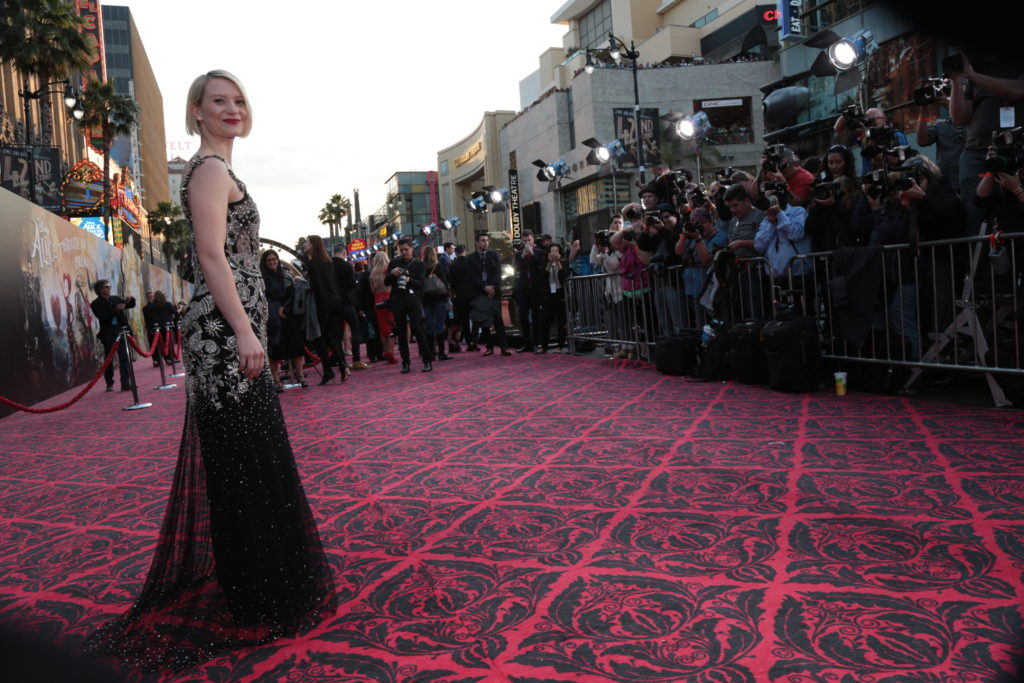 "Mia Wasikowska arrives at The US Premiere of Disney's ""Alice Through the Looking Glass"" at the El Capitan Theater in Los Angeles, CA on Monday, May 23, 2016. .(Photo: Alex J. Berliner/ABImages)"
