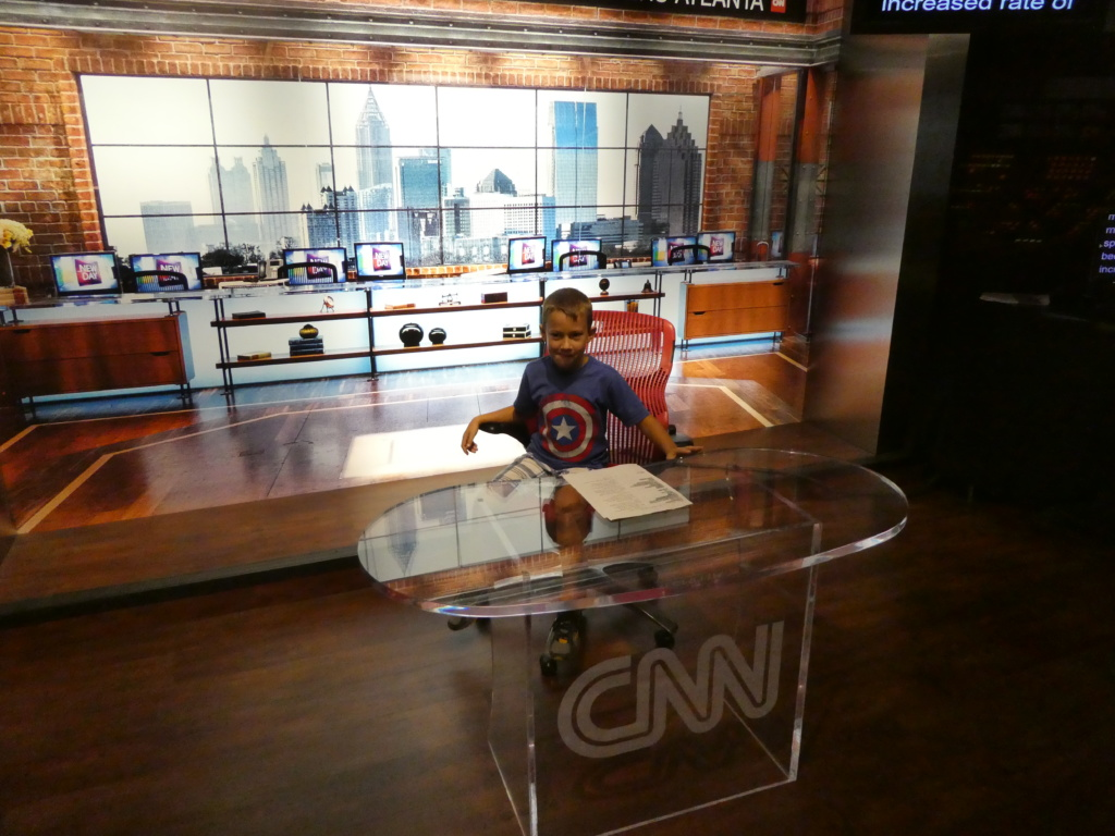Atlanta with Kids - CNN Studio Tour