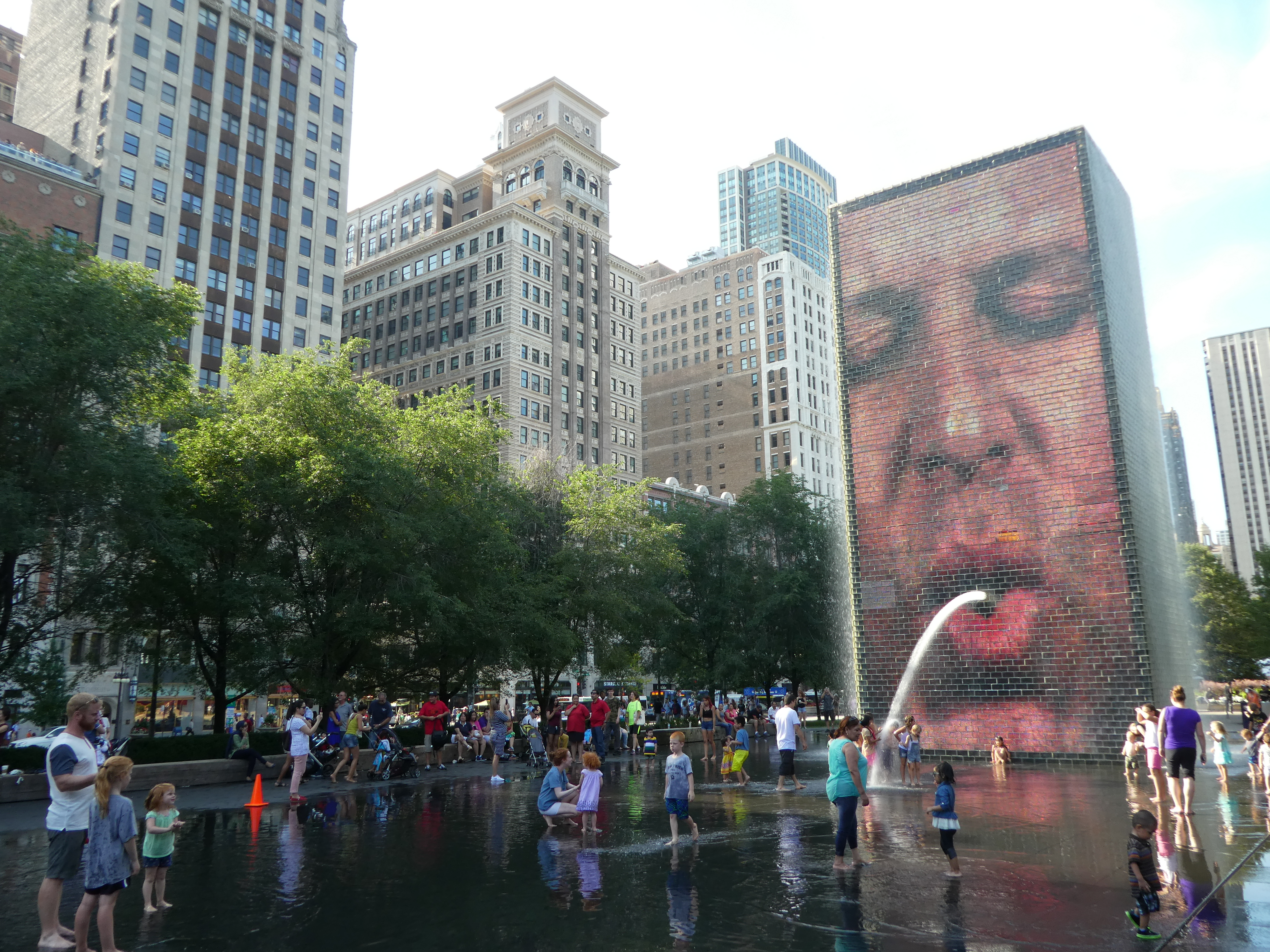 Chicago With Kids Crown Fountain