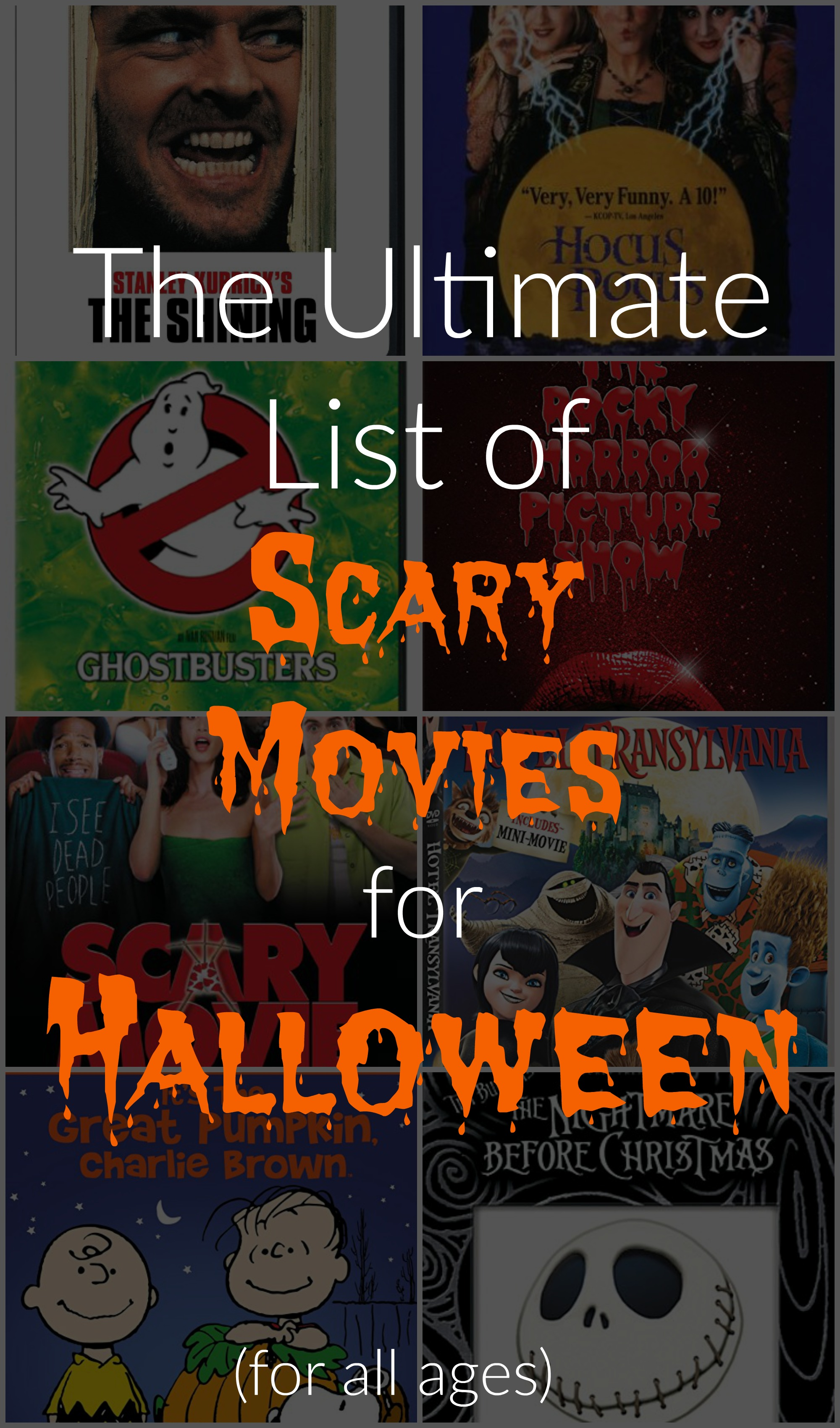 Ultimate List of Scary Movies for Halloween - R We There Yet Mom?