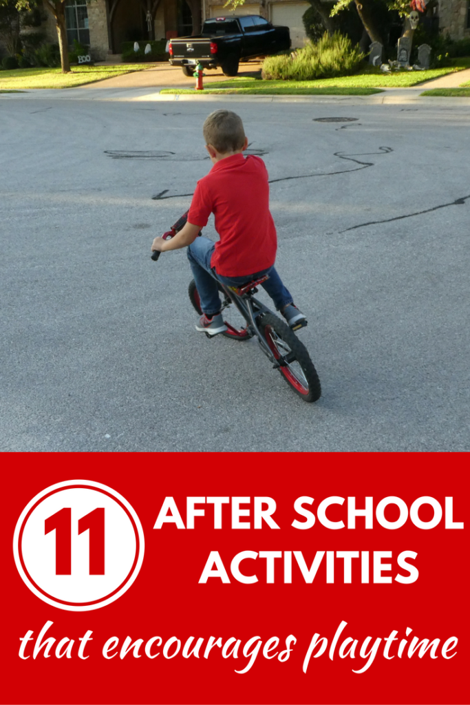11 After School Activities that Encourages Playtime