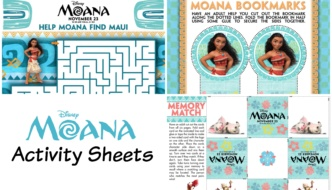 Disney's Moana Activity Sheets | #MoanaEvent