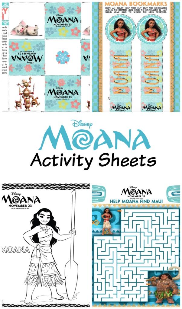 Disney S Moana Activity Sheets Moanaevent R We There