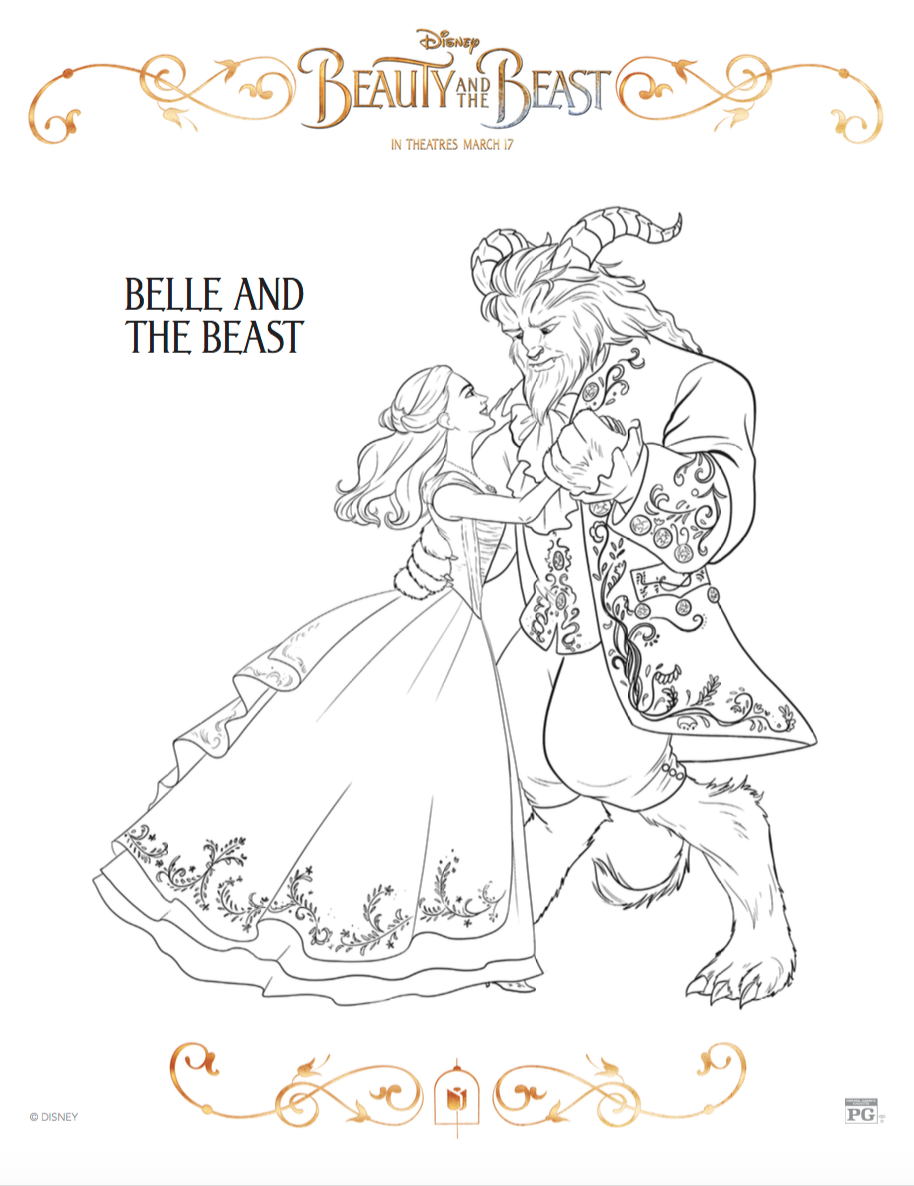 beauty and the beast coloring sheets r we there yet mom