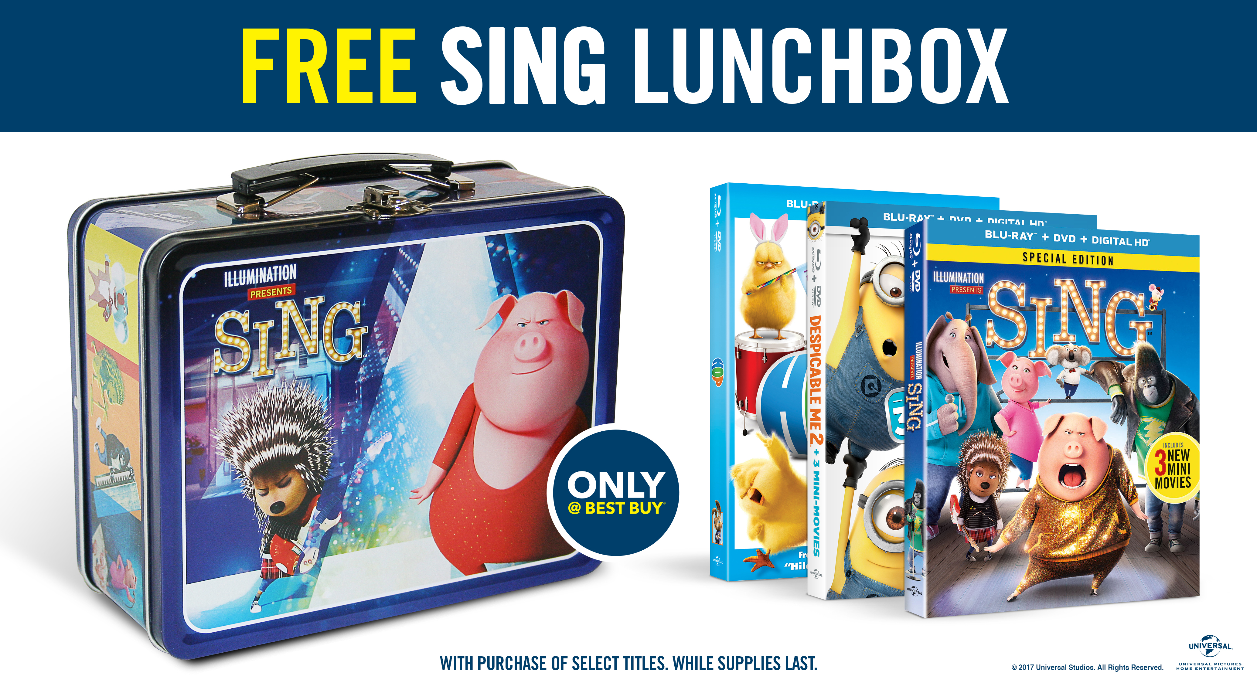free sing lunch box with select best buy kid 39 s movies r we there yet mom. Black Bedroom Furniture Sets. Home Design Ideas