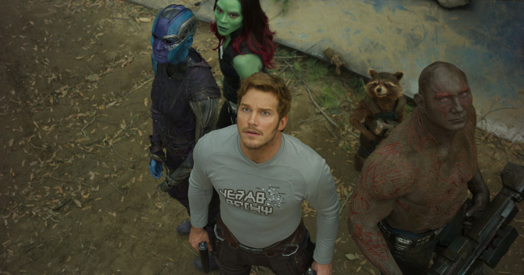 Chris Pratt in Guardians of the Galaxy Vol 2