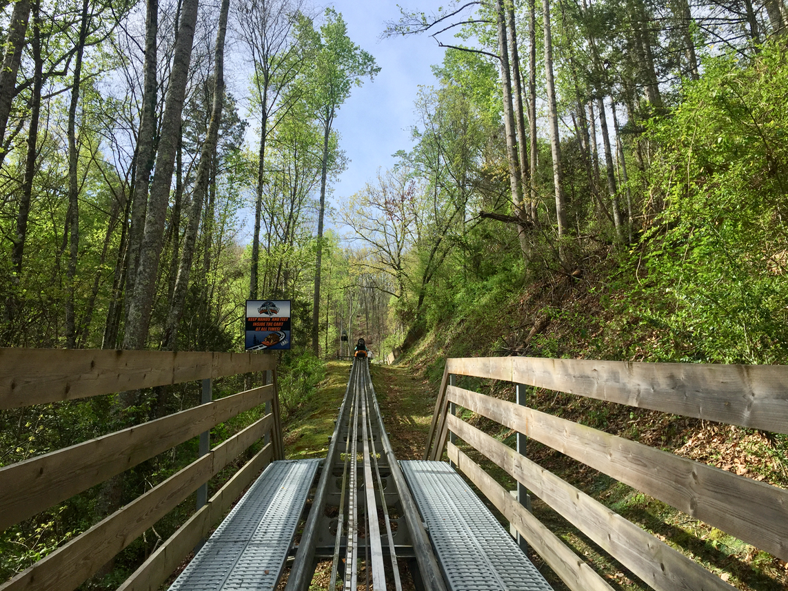 Smoky Mountain Alpine Coaster in Pigeon Forge Tennessee