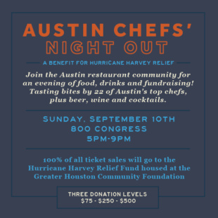Austin Chefs Night Out: September 10, 2017