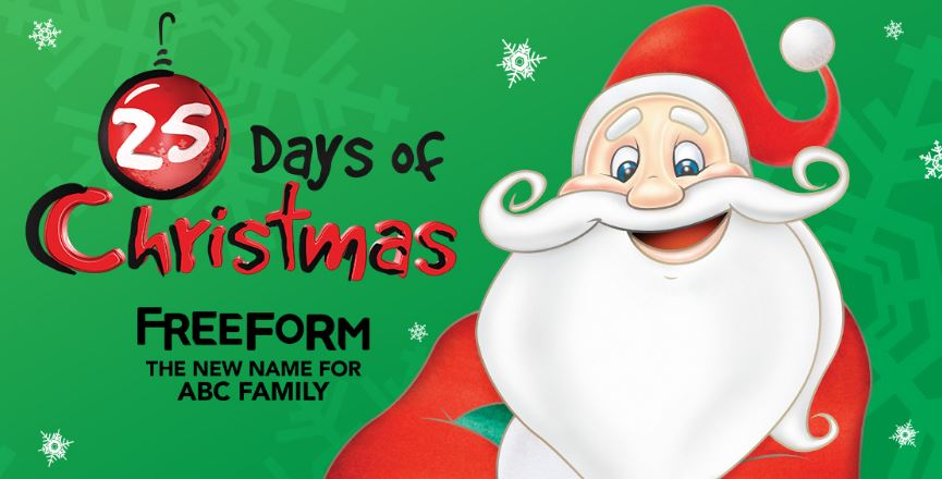 freeforms 25 days of christmas holiday movie schedule