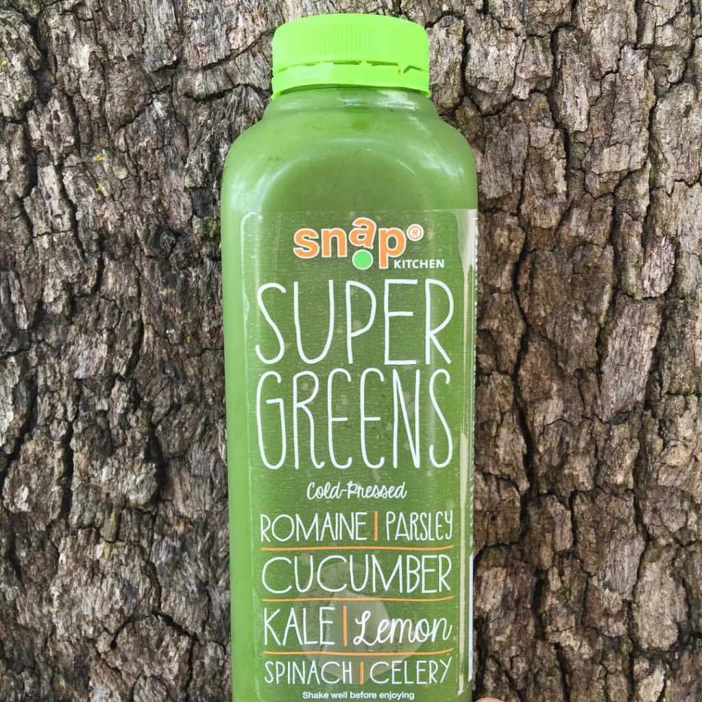Super Greens Cold-pressed juice from Snap Kitchen