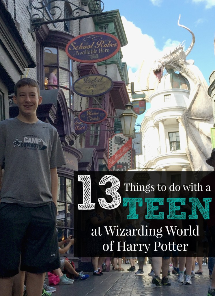 13 Things to do with a teen at Wizarding World of Harry Potter
