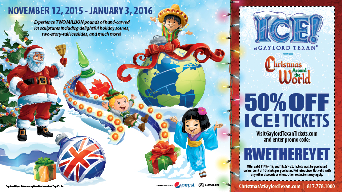 Gaylord Texan Ice 50 Discount Tickets Grapevine Texas