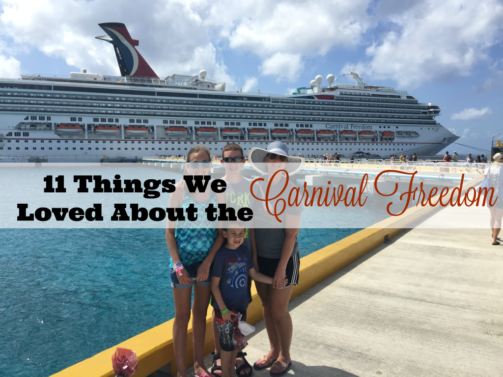 11 Things we loved about Carnival Freedom