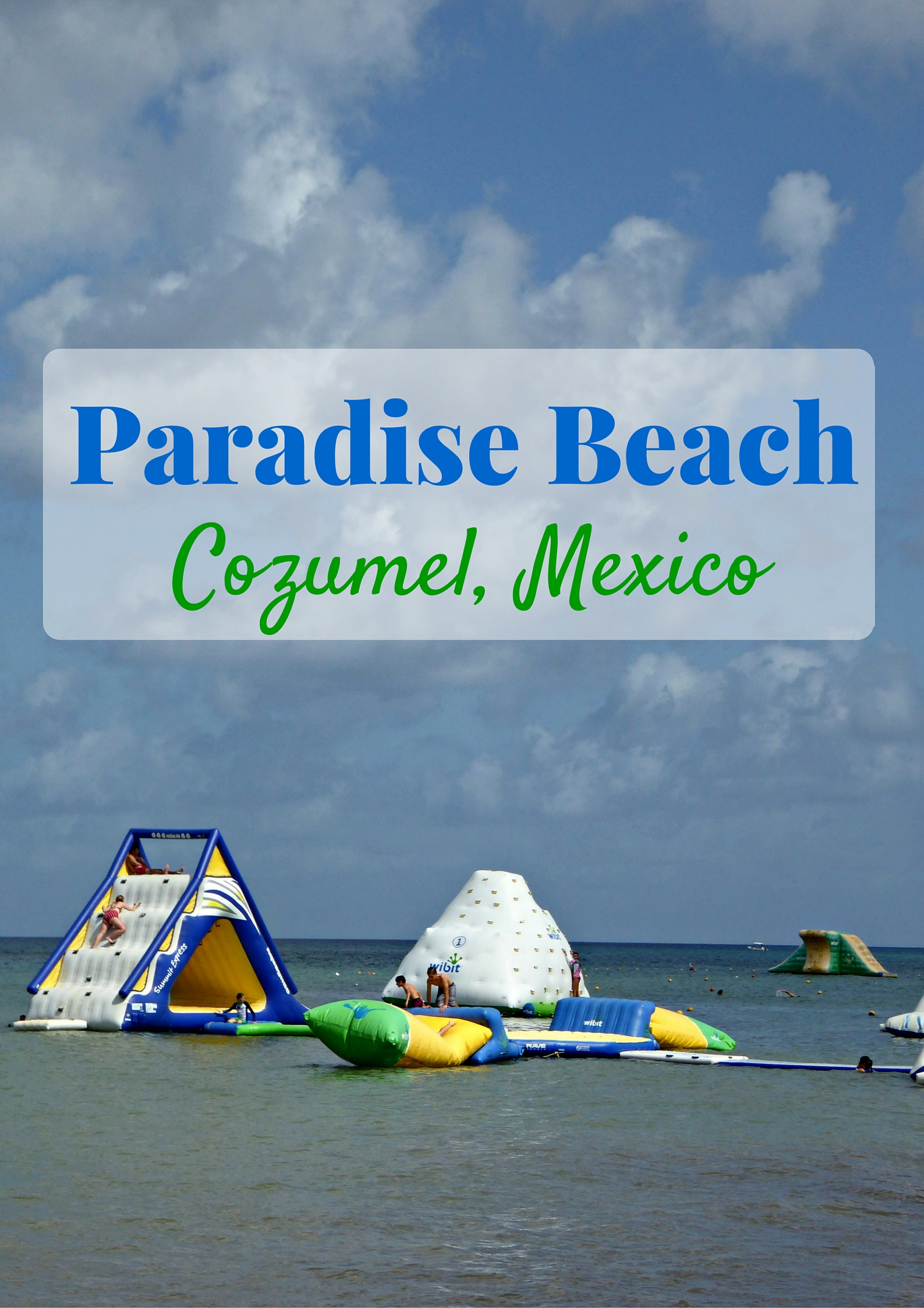 Paradise Beach In Cozumel Mexico As A Cruise Excursion
