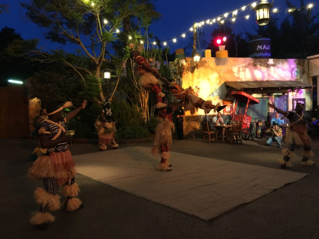 Animal Kingdom at Night Street Dancers