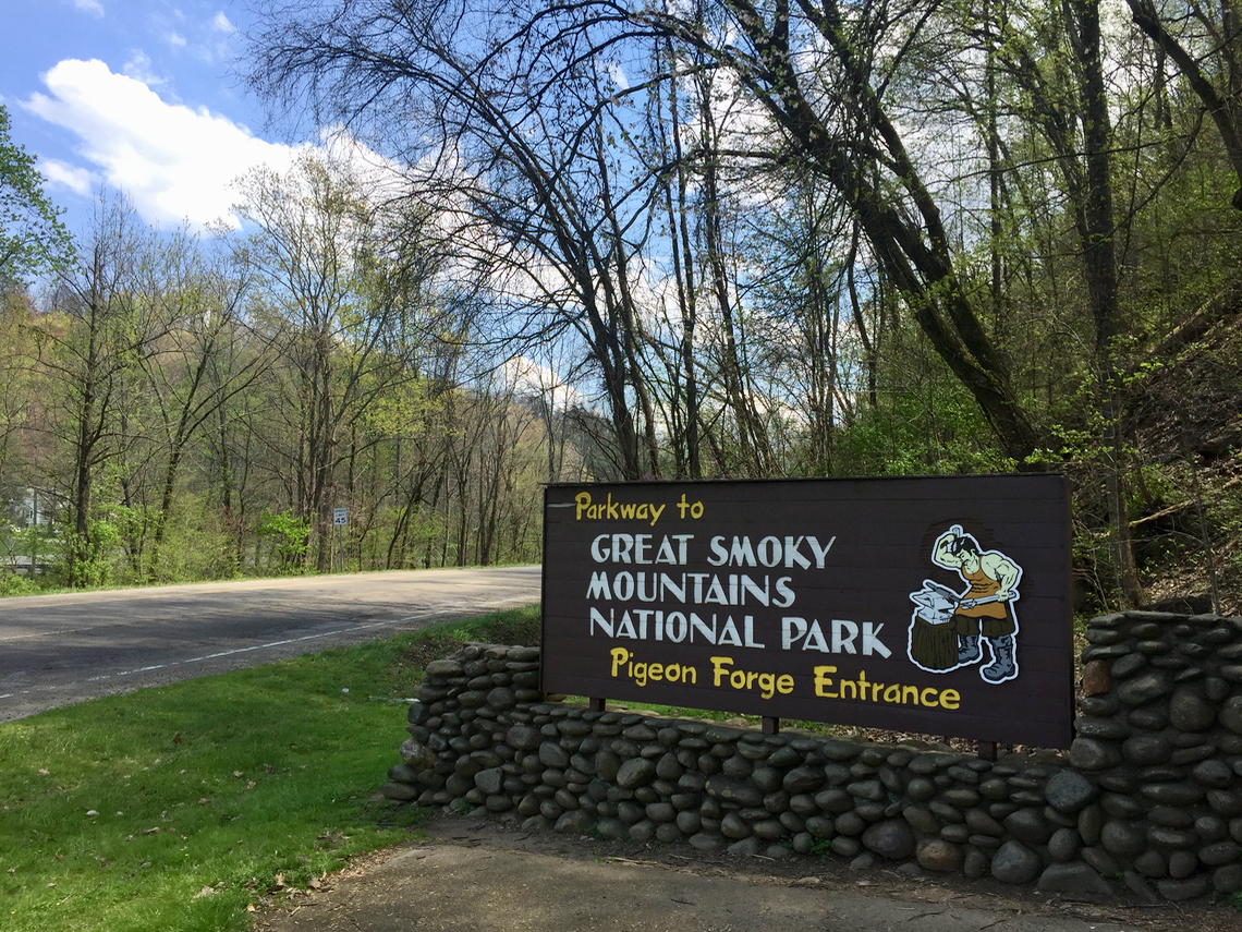 Great Smoky Mountains National Park in Pigeon Forge Tennessee