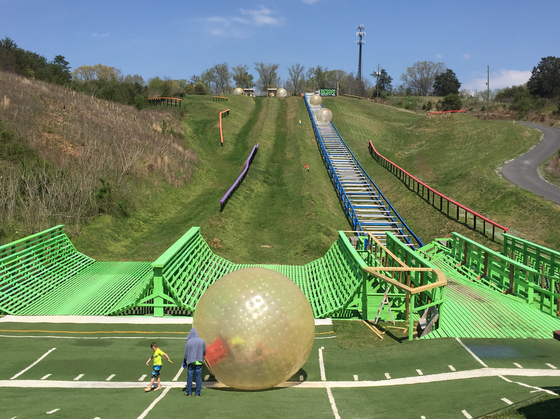 Outdoor Gravity Park in Pigeon Forge Tennessee