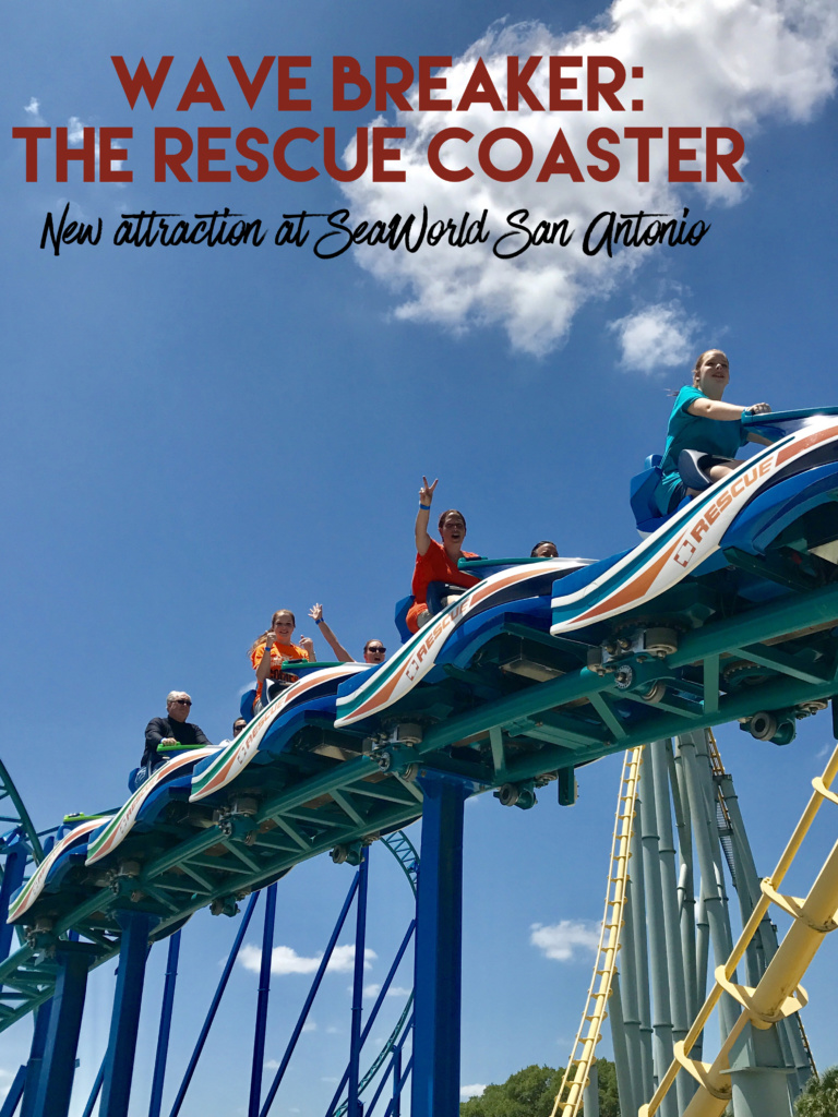 SeaWorld San Antonio's Newest Attraction: Wave Breaker: The Rescue Coaster