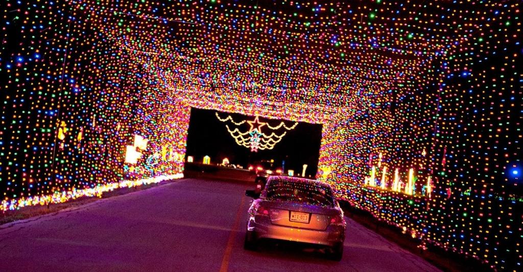 Drive-through tunnel at Prairie Lights